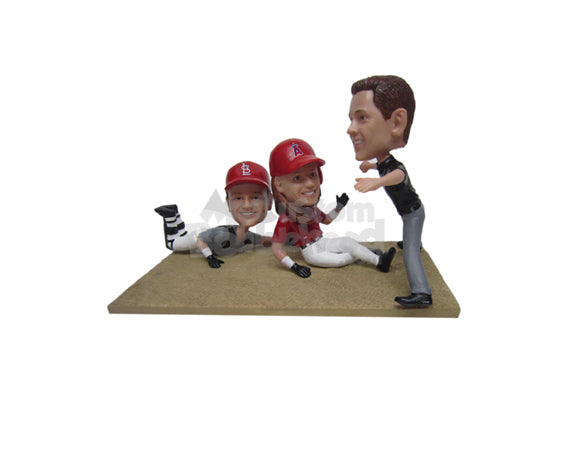 Custom Bobblehead Baseball Action Scene - Sports & Hobbies Baseball & Softball Personalized Bobblehead & Cake Topper