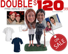Double Custom Bobblehead - Limited Time Deals Personalized Bobblehead & Cake Topper