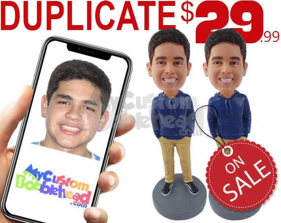 Duplicate Custom Bobblehead - Limited Time Deals Personalized Bobblehead & Cake Topper
