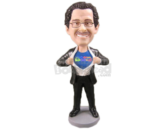 Custom Bobblehead Super Corporate Executive - Super Heroes & Movies Super Heroes Personalized Bobblehead & Cake Topper