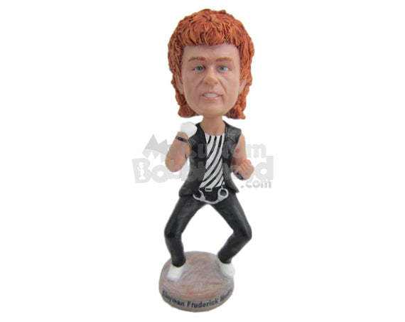 Custom Bobblehead Boy Ready For A Fight Wearing Waistcoat And Pants - Super Heroes & Movies Super Heroes Personalized Bobblehead & Cake Topper