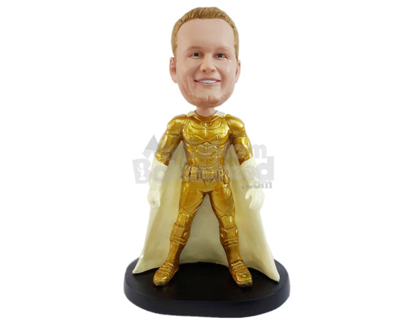 Custom Bobblehead Amazing Superhero With Long Cape - Super Heroes & Movies Super Heroes Personalized Bobblehead & Cake Topper