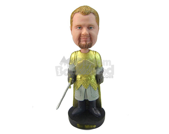 Custom Bobblehead Gladiator With A Sword - Super Heroes & Movies Movie Characters Personalized Bobblehead & Cake Topper