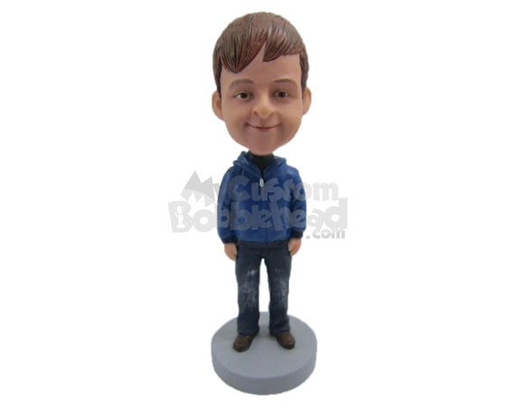 Custom Bobblehead Beautiful Kid Wearing Jacket With Jeans And Fancy Boots - Parents & Kids Babies & Kids Personalized Bobblehead & Cake Topper