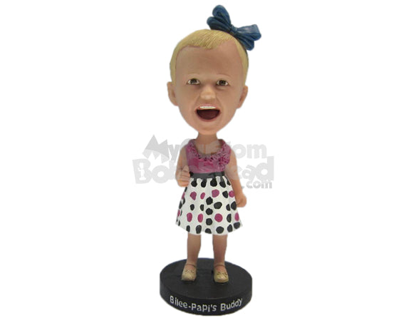 Custom Bobblehead Baby Girl In Her Skirts Giving A Thumbs Up - Parents & Kids Babies & Kids Personalized Bobblehead & Cake Topper