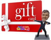 Custom Bobblehead Gift Card - eGift Card - Personalized Bobblehead Gift Certificate - Personalized Bobblehead & Cake Topper