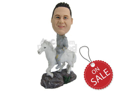 Custom Bobblehead Royal Prince On A Beautiful Horse - Pets & Animals Horses Personalized Bobblehead & Cake Topper