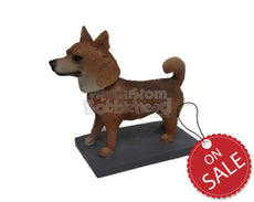 Custom Bobblehead Pet Dog Standing With His Tail Up - Pets & Animals Dogs Personalized Bobblehead & Cake Topper