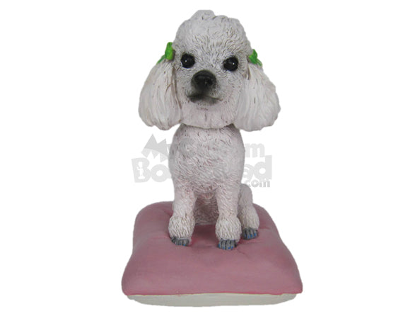 Custom Bobblehead Poodle Pet Dog - Pets & Animals Dogs Personalized Bobblehead & Cake Topper