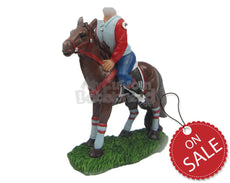 Custom Bobblehead Racing Horse Ready For A Race - Pets & Animals Horses Personalized Bobblehead & Cake Topper