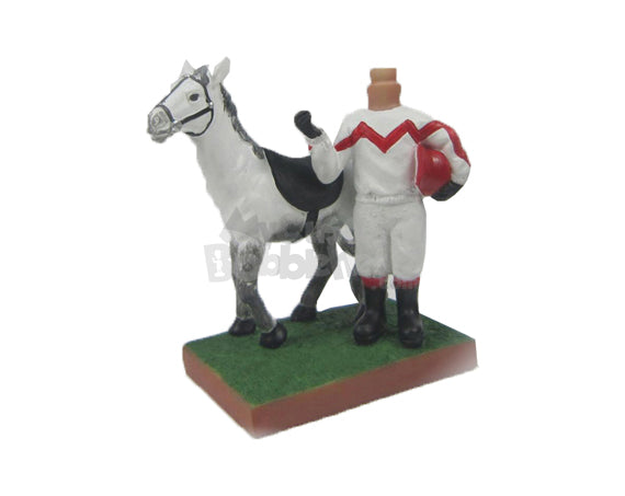 Custom Bobblehead Gorgeous Racing Horse - Pets & Animals Horses Personalized Bobblehead & Cake Topper