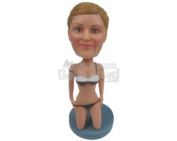 Custom Bobblehead Naughty Girl Taking Off Her Clothes - Sexy & Funny Sexy & Naughty Personalized Bobblehead & Cake Topper