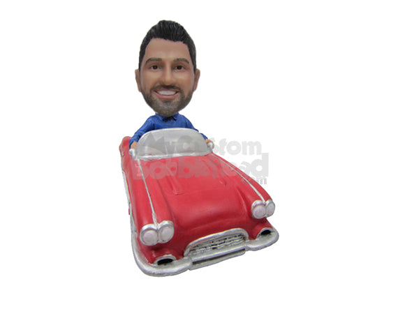 Custom Bobblehead Casual Pal Cruising Around In A Fast Classic Convertible Car - Motor Vehicles Cars, Trucks & Vans Personalized Bobblehead & Cake Topper