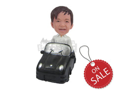 Custom Bobblehead Smart Kid In A Car - Motor Vehicles Cars, Trucks & Vans Personalized Bobblehead & Cake Topper