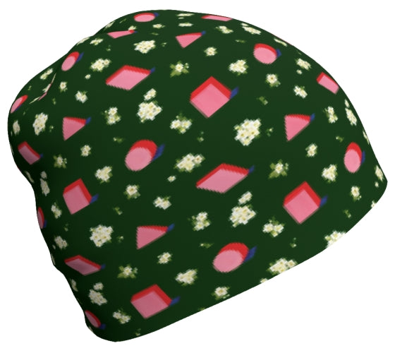 Floral Geometric Baby Beanies