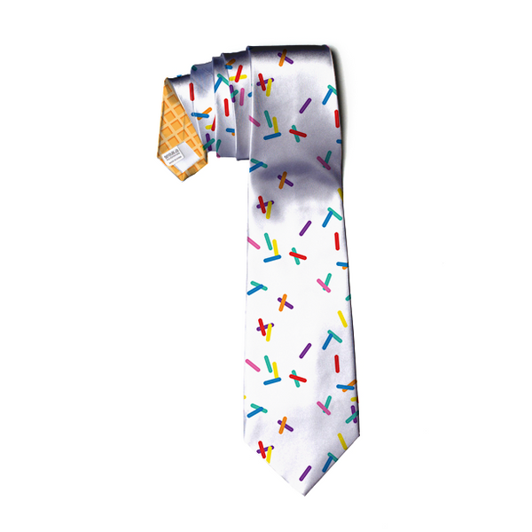 Vanilla with Sprinkles Neck Tie