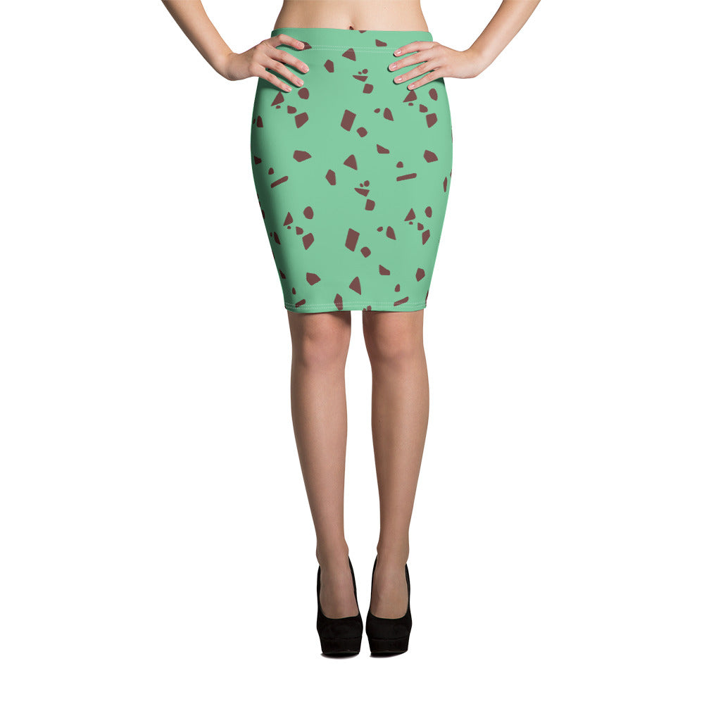 Mint Chip Pencil Skirt