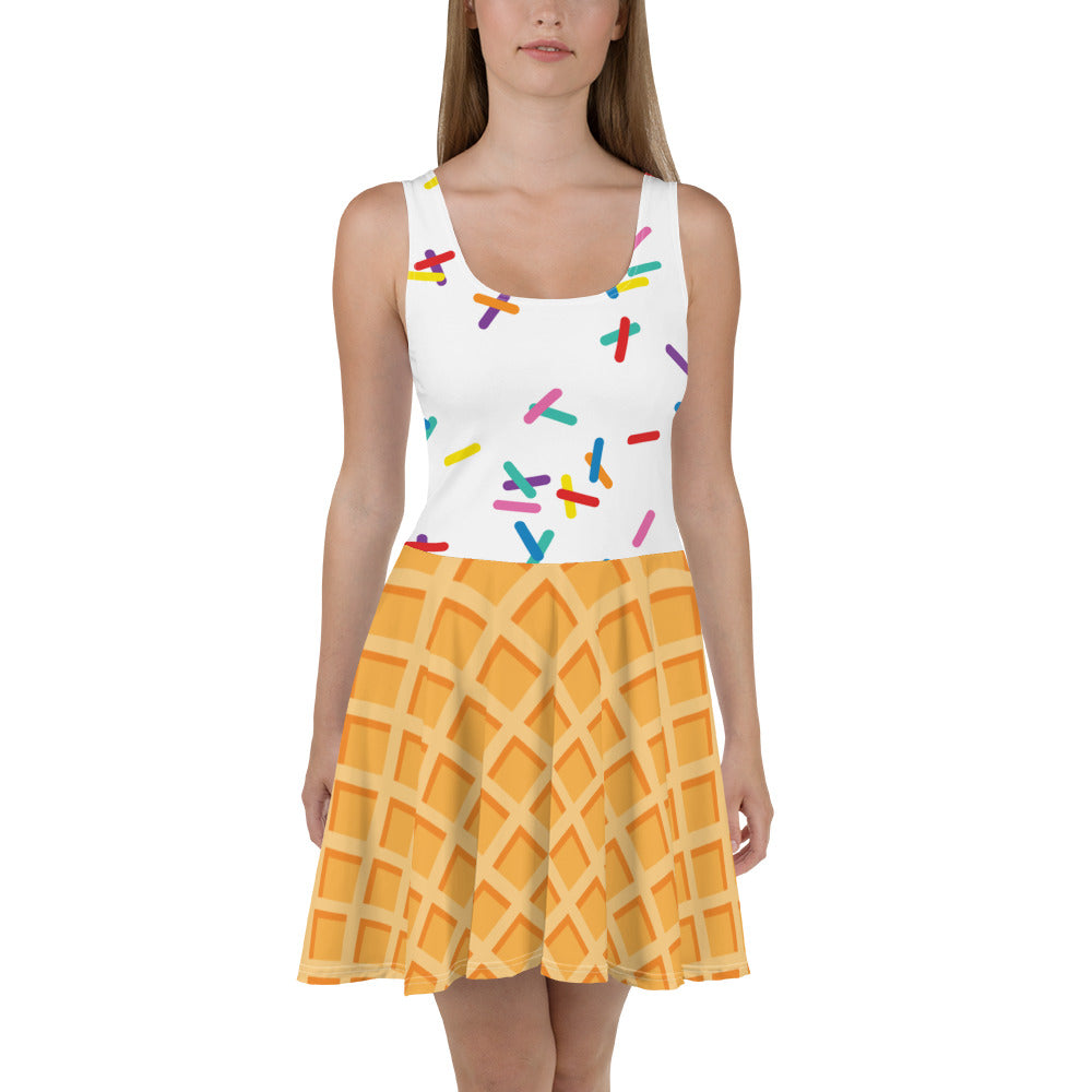 Vanilla with Sprinkles Skater Dress