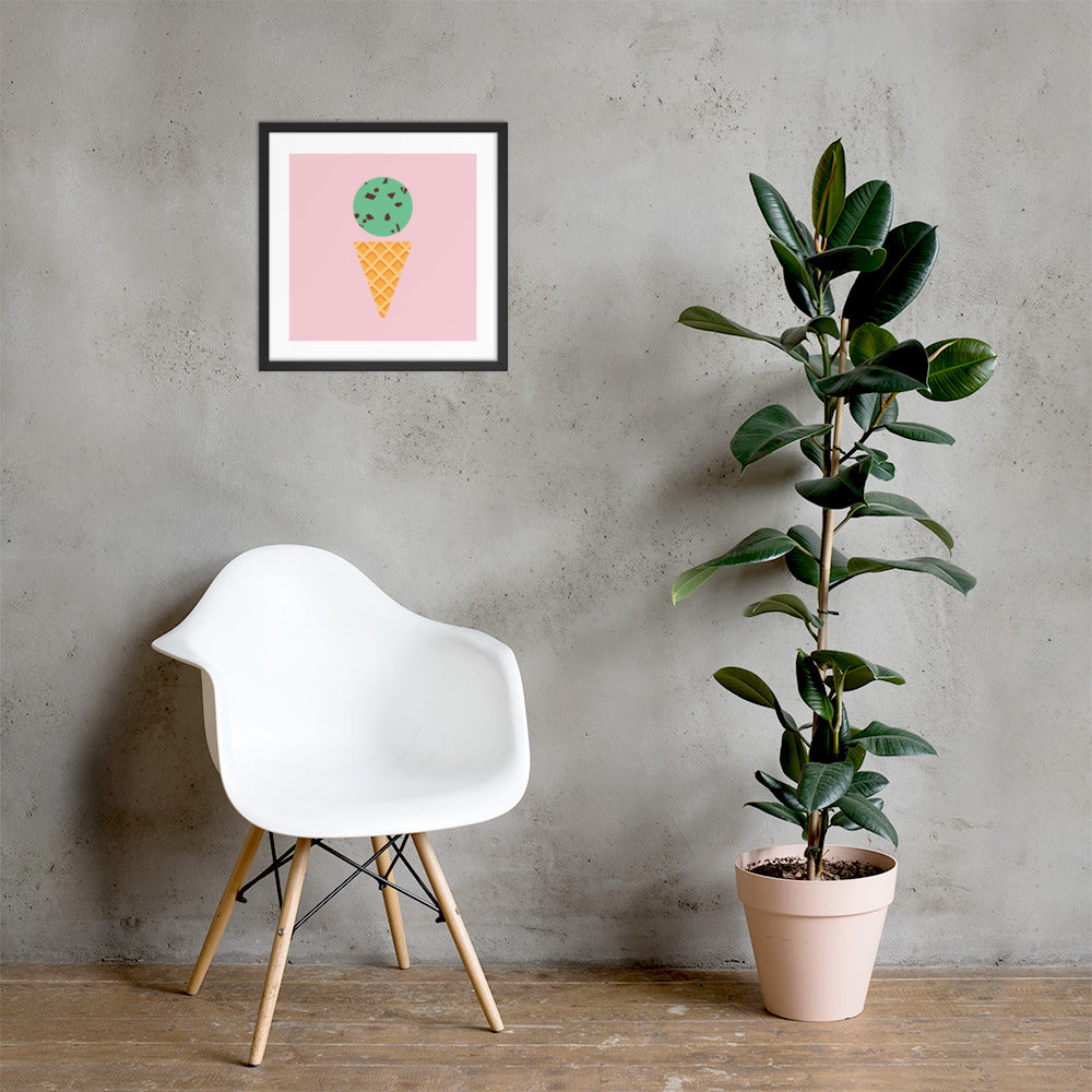 Mint Chip Framed Posters