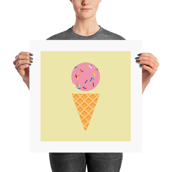 Strawberry with Sprinkles Posters