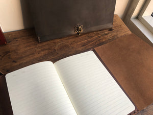 Journal gift, Leather notebook, Travel diary, Custom made in NYC by hand