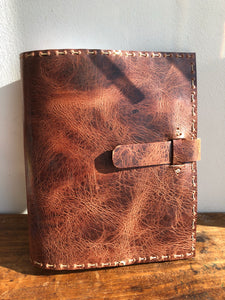 NY leather notebook, Handmade leather journal, Composition book cover - made in NYC