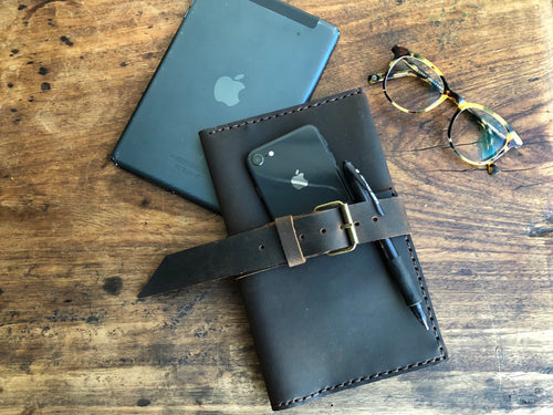 Large travel wallet with 10 pockets, Leather document holder organizer, Handmade leather wallets