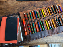 NY sketchbook, Refillable sketchpad cover, Hand-stitched leather sketch book, Custom made in NYC