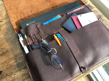 Leather document case, iPad sleeve, Pocket tablet case and pocket organizer