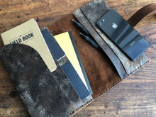 Travel wallet / Handmade Leather Document Organizer / 8 Pocket Wallet, Handmade in NY