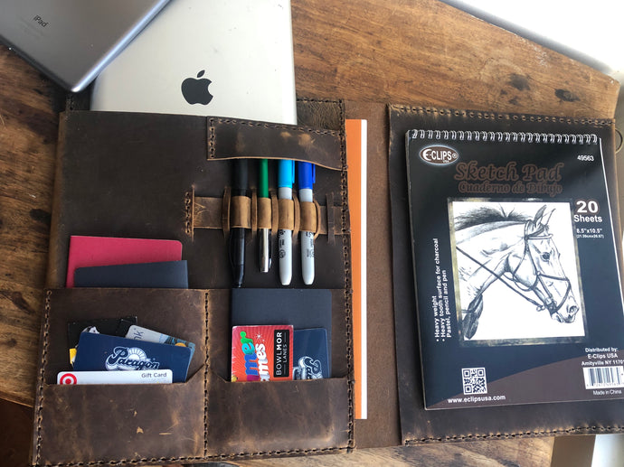Leather Business Portfolio , Notepad Holder, Portfolio Organizer