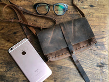 iPhone crossbody bag, Leather mini iPhone purse, Handmade leather cross body phone bag