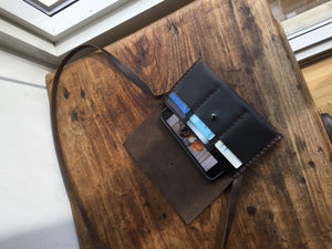 iPhone Xs Wallet / Leather iPhone Bag / Mini Crossbody Phone Case