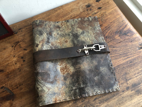 Ring binder, 8.5 x 11 3 ring notebook, Pocket binder, Leather pocket notebook, Custom made