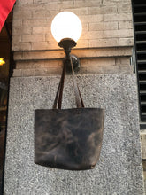 Rich tote, Shoulder bag, Handmade leather tote bag rich expresso, Custom made in NYC