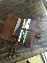 Leather Clutch Wallet / 6 Pocket iPhone Case / Leather Clutch Purse