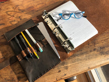 A5 Notebook Binder / Roomy A5 Leather Binder / Half page Mini Binder / 3 Ring Leather Notebook