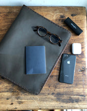 Zipper Portfolio / Leather Padfolio / Binder portfolio with zipper / Handmade leather binder
