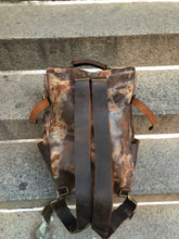 Vintaged Backpack / 5 Pocket Leather Backpack / Oversized Travel Rucksack