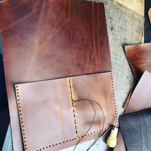 Leather portfolio / Zippered portfolio / Leather Notepad holder
