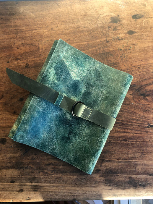 Junior Binder / A5 Half Page Binder / 3 Ring Notebook Leather Binder