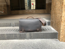 Laptop Briefcase / Leather Business Briefcase / Double Gusset Bag