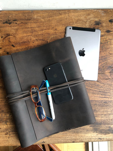 Minimalist Binder, Leather 3 Ring Notebook Binder / Leather Script Holder