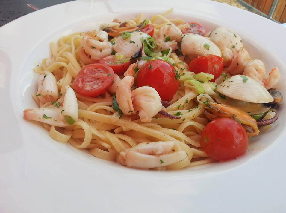 Pasta with Swordfish and Cherry Tomato Sauce