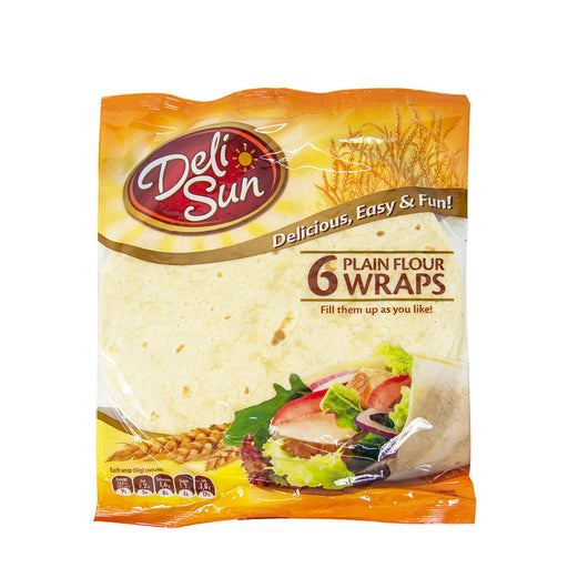 Deli Sun Plain Flour Tortilla Wraps - 6 Pcs