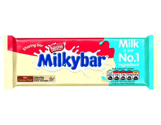 Nestle MilkyBar White Chocolate Sharing Bar 100g