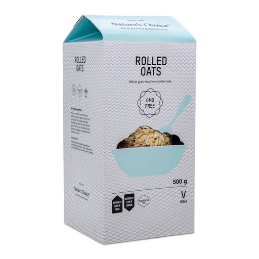 Nature's Choice Rolled Oats - (GMO Free) 500g.