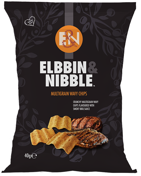 Elbbin Nibble Multigrain Wavy Chips Flavoured with Smoky BBQ Sauce
