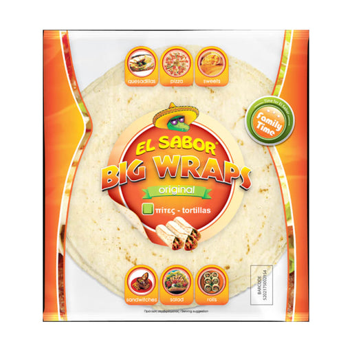 El Sabor Big Wraps Original 25cm - 6 Tortillas