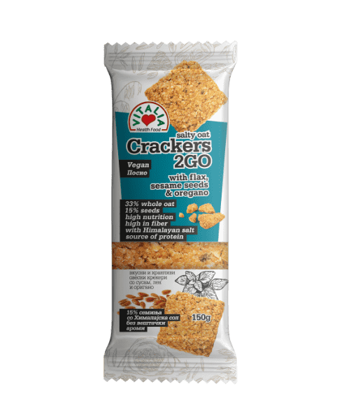 Vitalia Oat Crackers with Sesame seeds and Oregano 150g